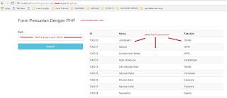 Membuat Serching Sederhana dengan PHP, MySQL dan Bootstrap