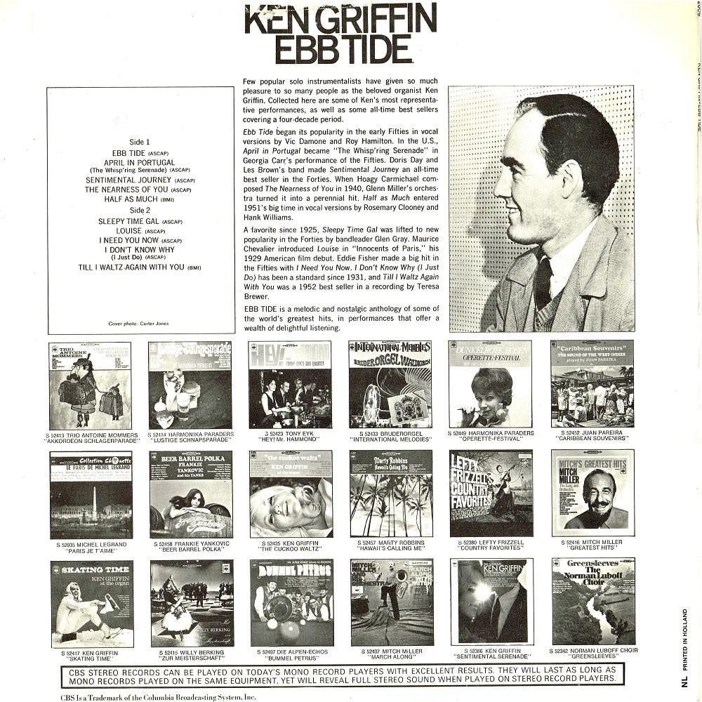 Ken Griffin - Ebb Tide (1968) - Lp ~ naald op de groef