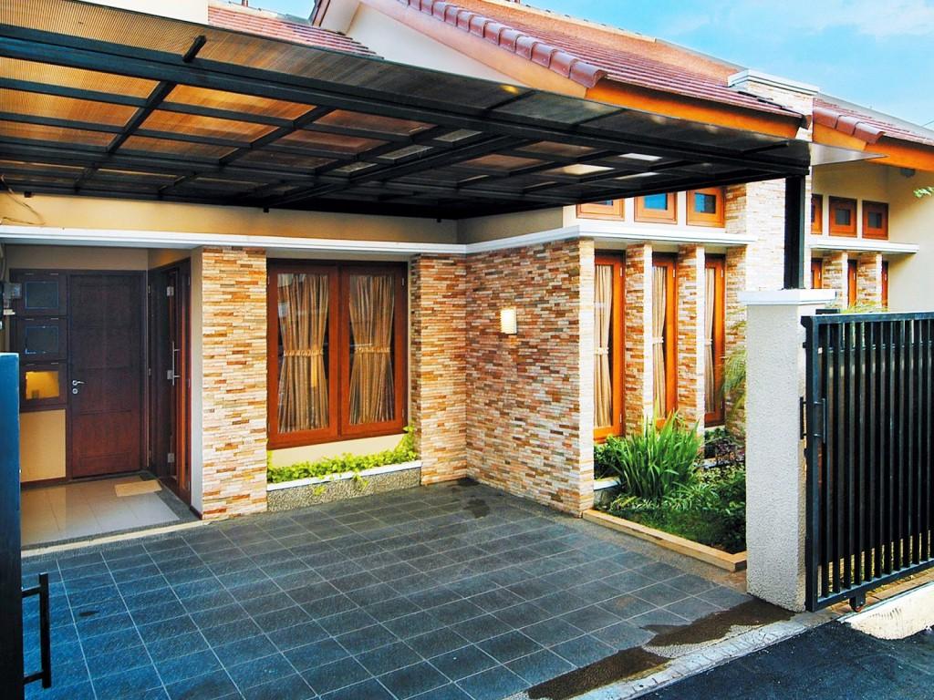 desain batu alam dinding eksterior rumah