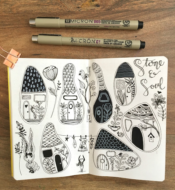 Sketchbook Conversations, sketchbooks, Kristen Afionis, My Giant Strawberry
