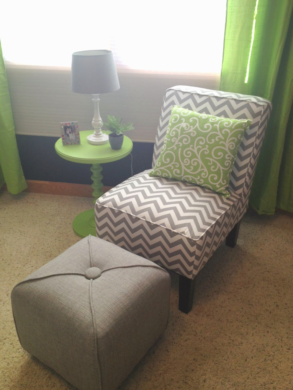 Lime Green Accent Chair Nicole Michael Crochet Off Subject Room Makeover