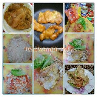 homemade chicken wrap, resepi, menu minum petang, bahan-bahan,cara-cara masak