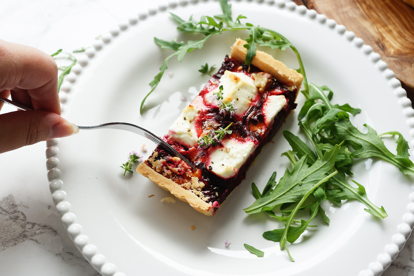 food-photography-beetroot-goats-cheese-tart-recipe-barely-there-beauty