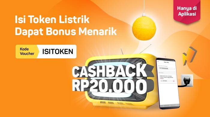 Bukalapak - Voucher Beli Token Listrik Cashback 20 Ribu (s.d 30 Sept 2018)