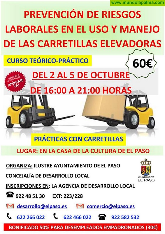 Curso Prevención de Riesgos Laborales en el uso y manejo de carretillas elevadoras