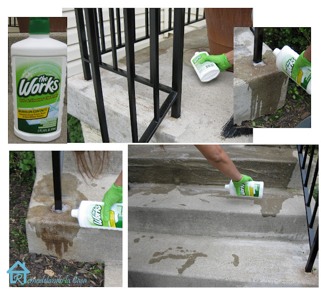 The works cleaner is used to remove rust