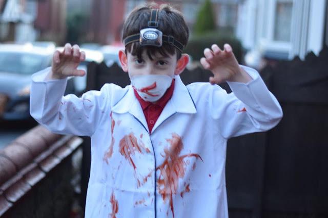 Demon Dentist dress up costume for world book day boy
