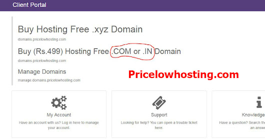 Free .com or .in Domain name india Pricelowhosting.com