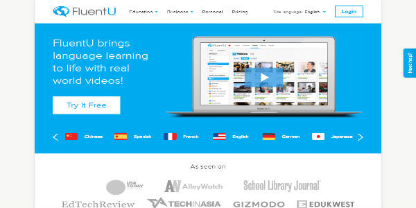 Fluentu- Language Immersion Online-Learn-English-Language-with-Videos-600x300