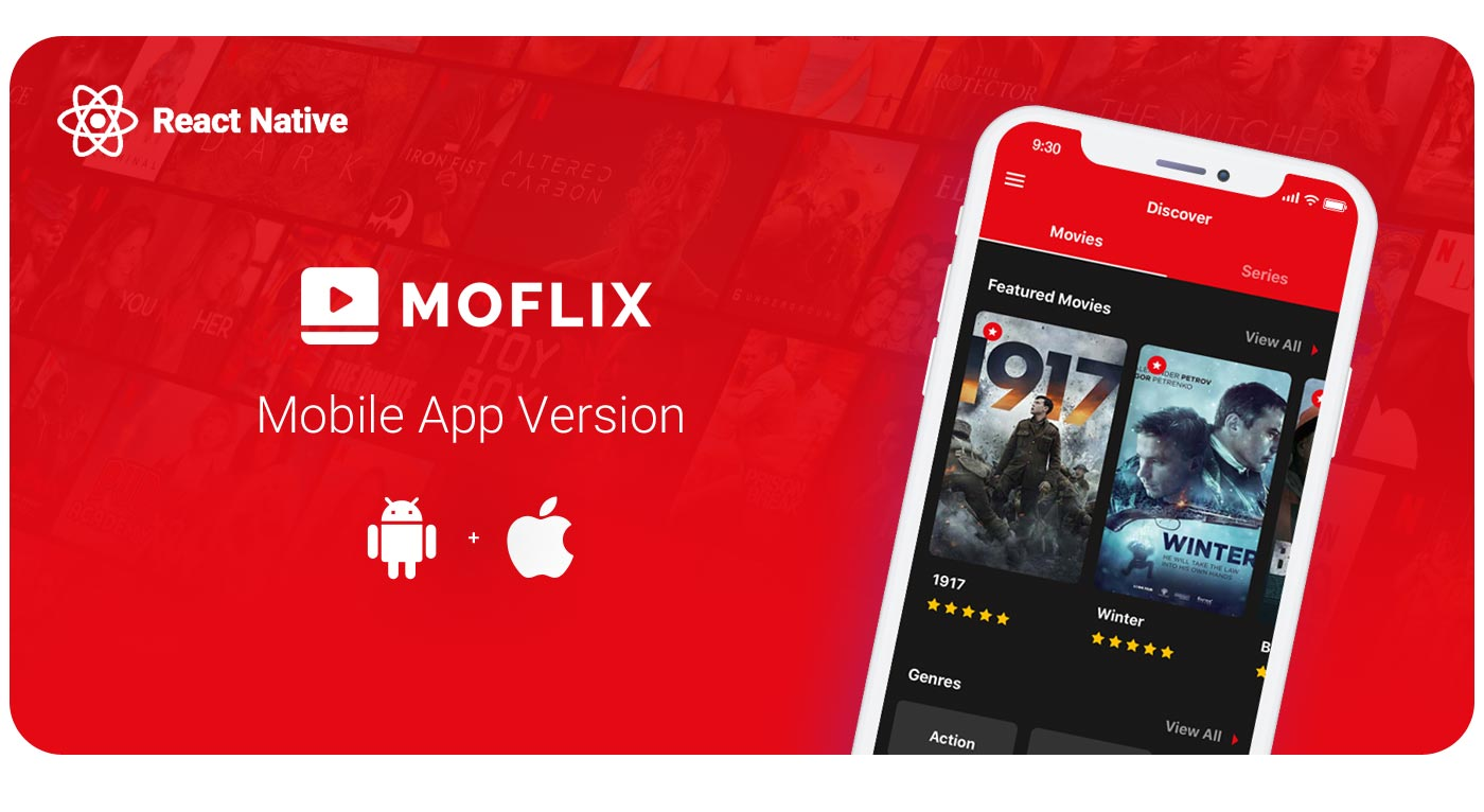 MoFlix - Ultimate PHP Script For Movie & TV Shows - 1