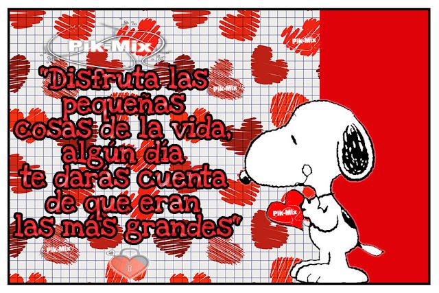 Las pequeñas cosas | Frases | Snoopy