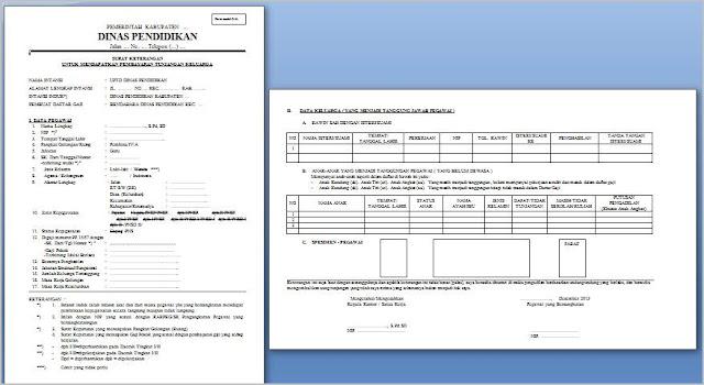 format surat keterangan untuk mendapatkan tunjangan kerja
