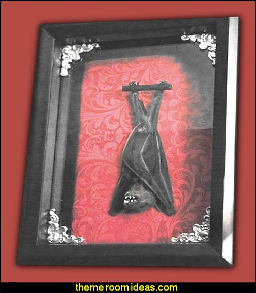 Taxidermy Bat Shadowbox - Real Bat - Gothic Gift - Bat Gift - Gothic Home Decor