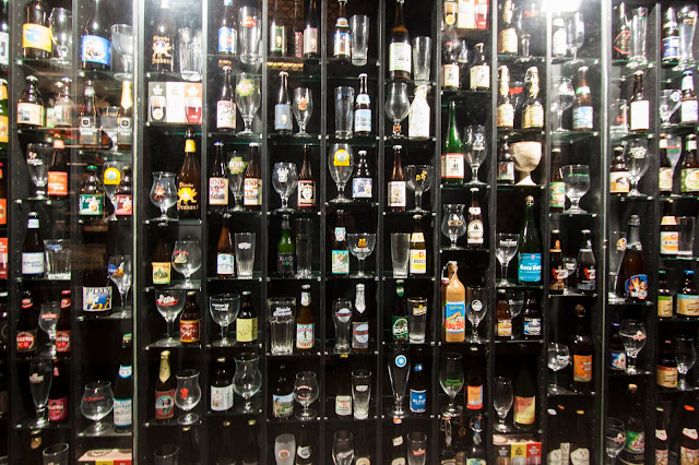 Beer wall-Bruges
