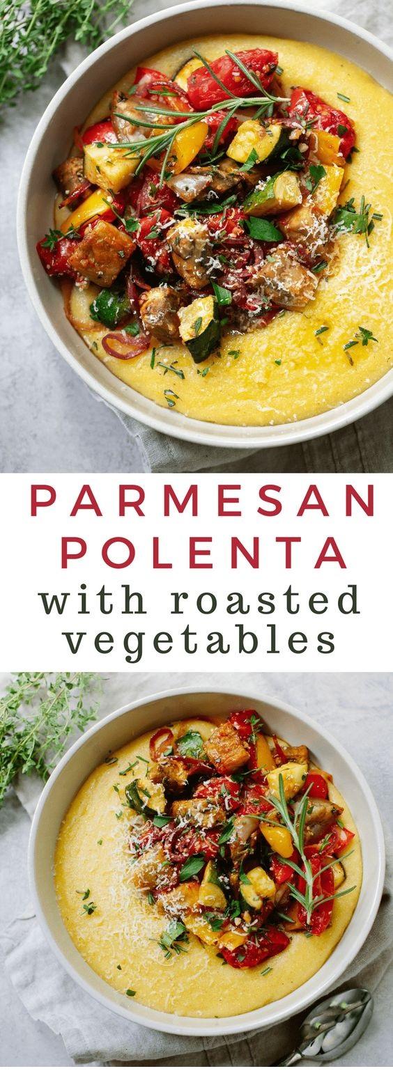 Parmesan Polenta with Roasted Vegetables