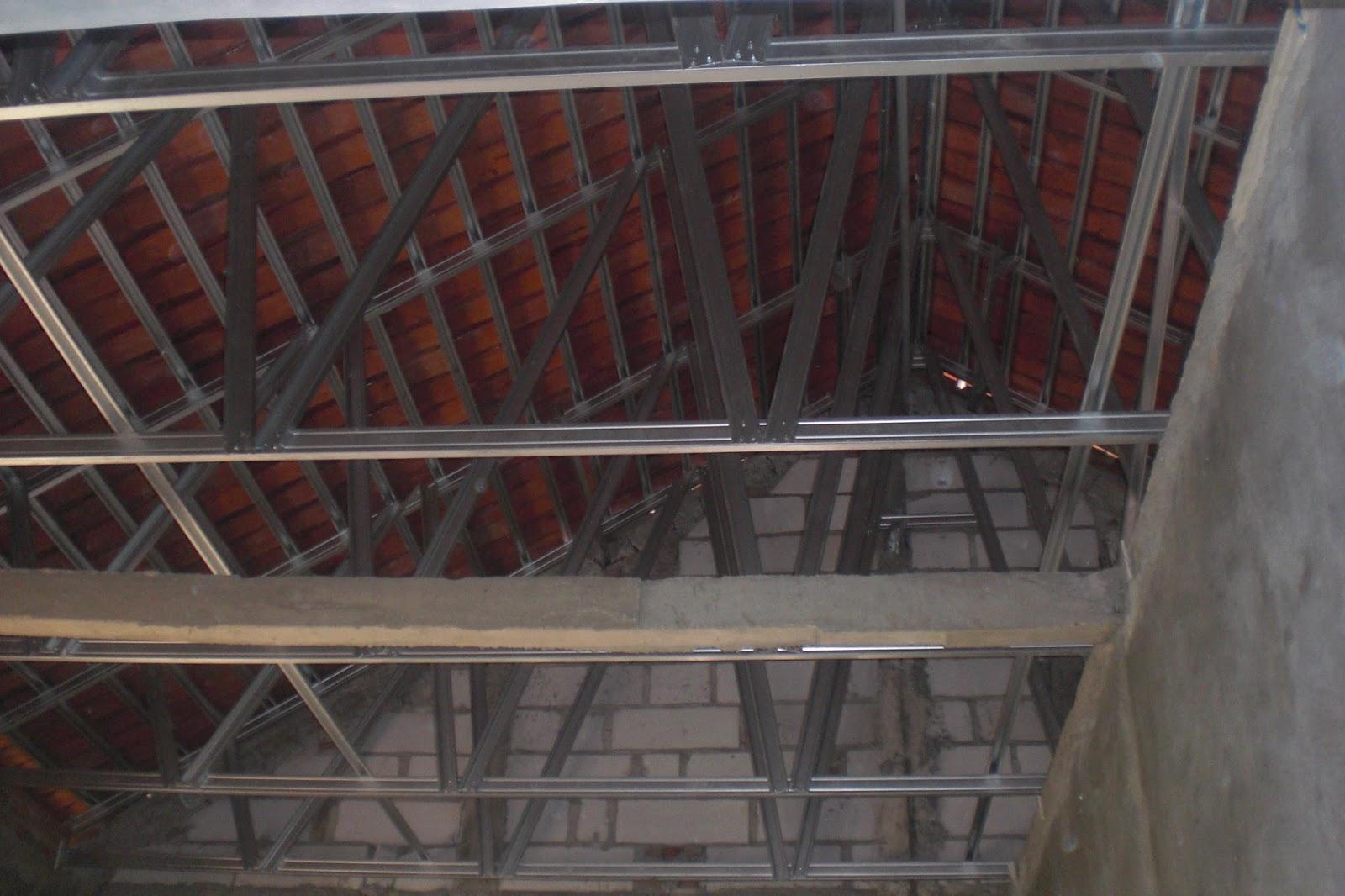 rangka baja ringan untuk atap asbes pemasangan di perumahaan vila ...