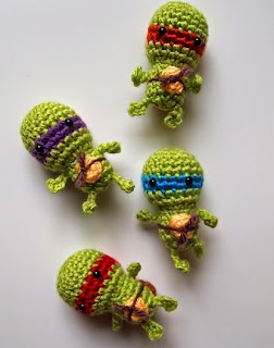 http://www.ravelry.com/patterns/library/tiny-turtles-teenage-mutant-ninja-turtles-inspired-toys