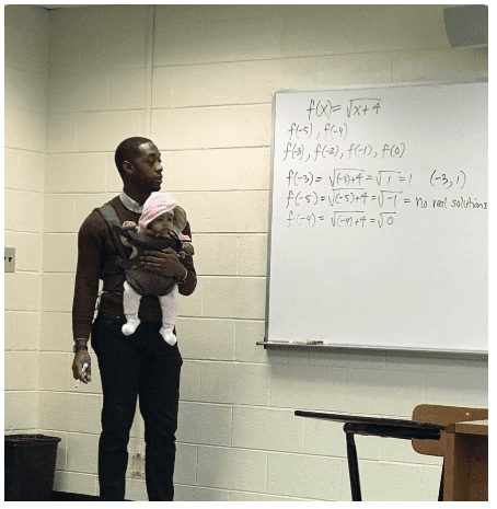 Lecturer Helps Student Carry His Child in Class So He Can Concentrate + (Photos)
