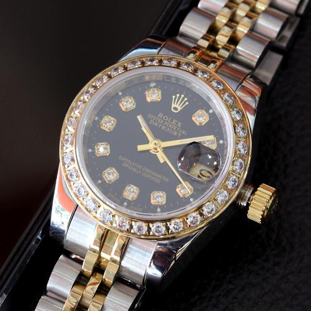 Đồng hồ rolex mặt đen