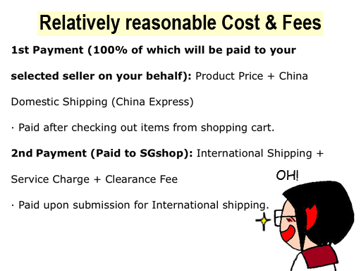 SGshop Malaysia Cost Fee