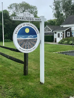 Sagaponack Village's Establishment sign in front of the office