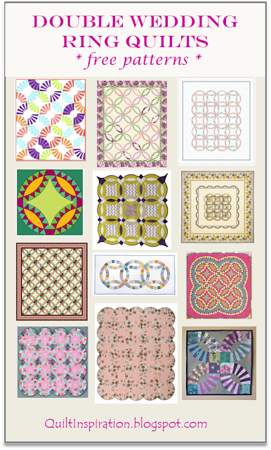 a graceful wedding 70 x 83 free pattern by shelley pagliai as seen at quilt alliance - Wedding Ring Quilt Pattern