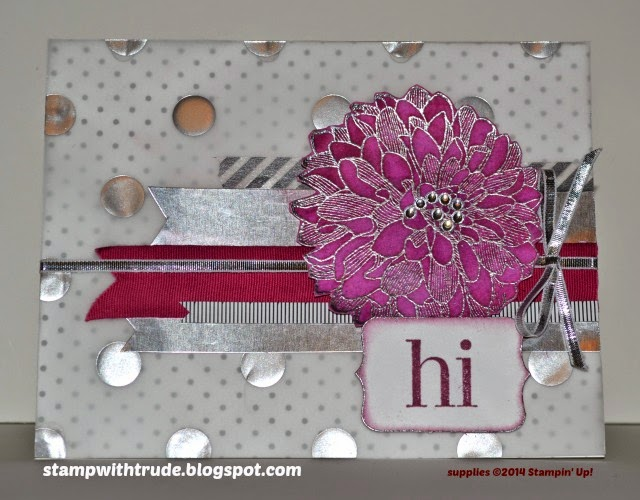 Stampin' Up! Regarding Dahlias stamp set Greeting card by Trude Thoman http://stampwithtrude.blogspot.com