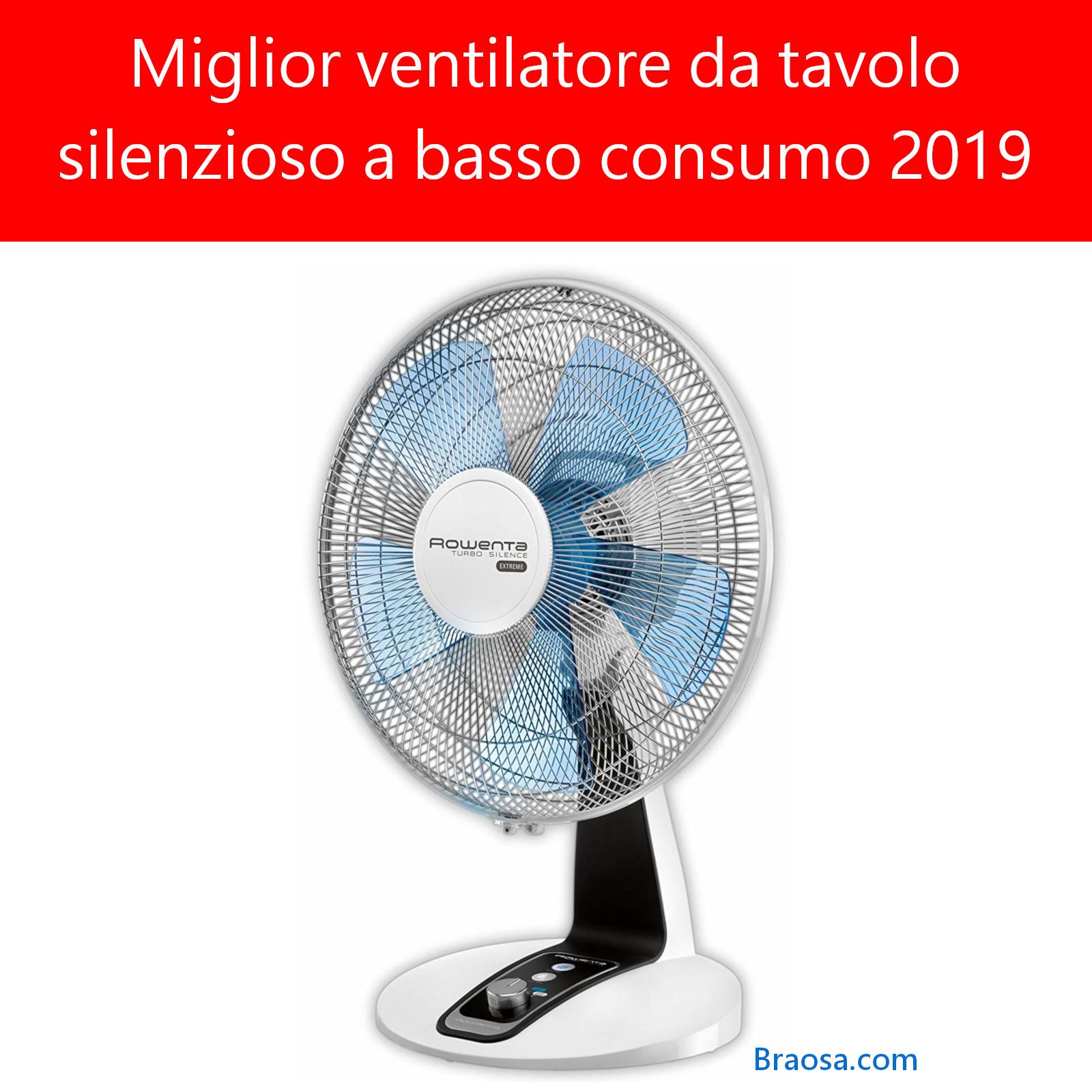 Migliore ventilatore da tavolo silenzioso 2019