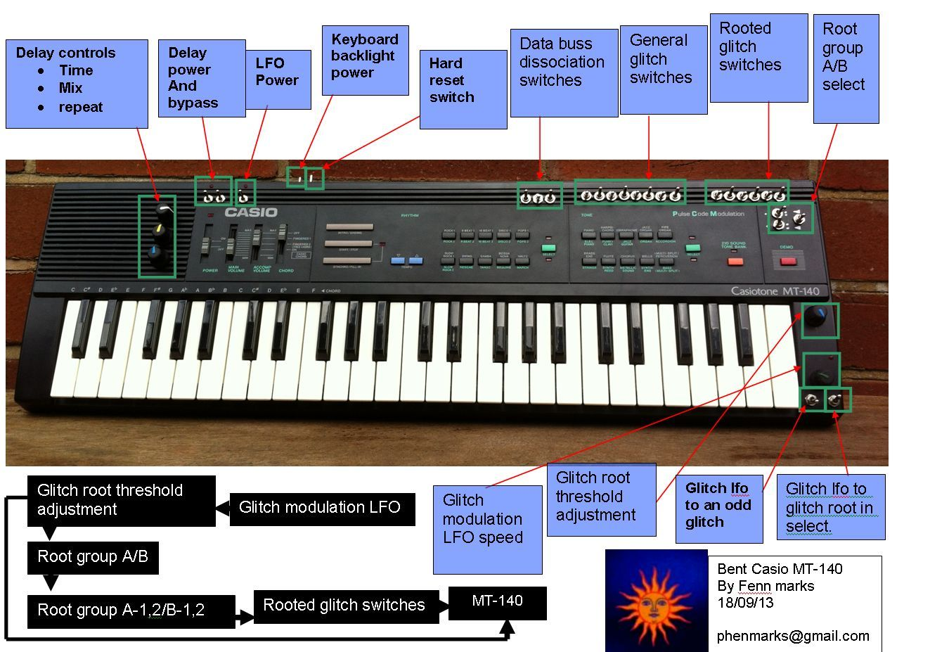 Circuit Bent Casio Keyboard Diabolical Devices Sk1 Sampling Fun Blue Back Light Demo For Ebay 1350x927
