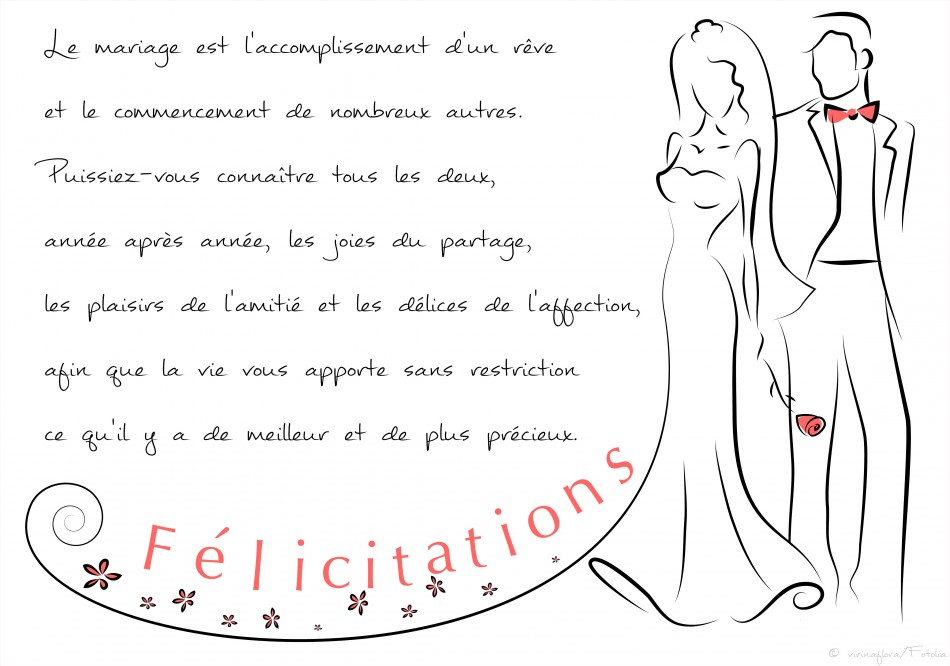 Texte carte mariage f licitations humour invitation - Carte felicitation mariage gratuite ...