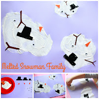 Melted Snowman Family Craft