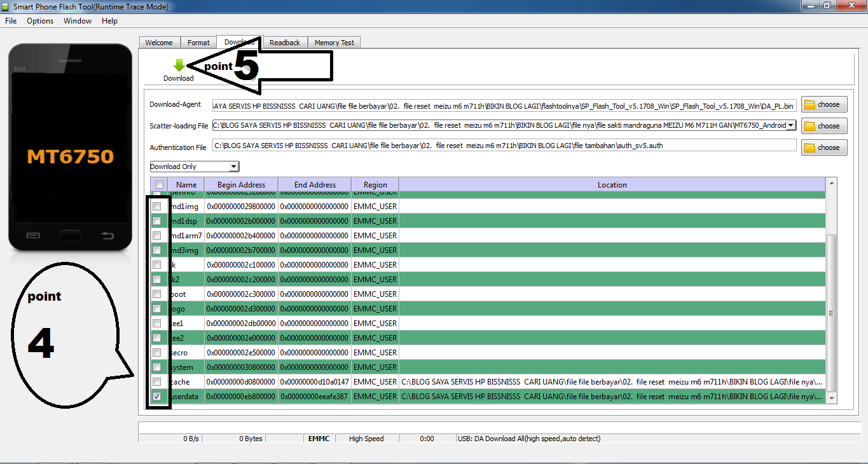 File sakti reset pola Meizu m6 model m711h