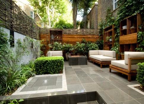 taman hias samping rumah elegan dan minimalis