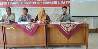 KPU Limapuluh Kota Tetapkan DPS Pemilu 2019