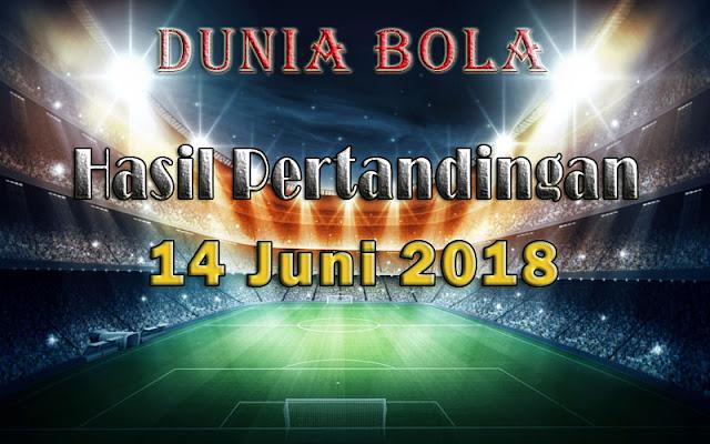 Hasil Pertandingan Sepak Bola Tanggal 14 Juni 2018