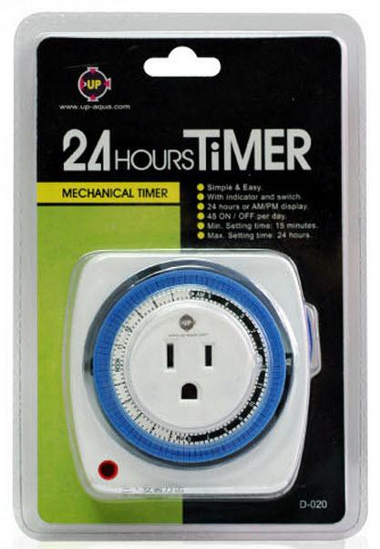 Hãy dùng timer để việc bật tắt đèn cho bể thủy sinh được tự động mỗi ngày