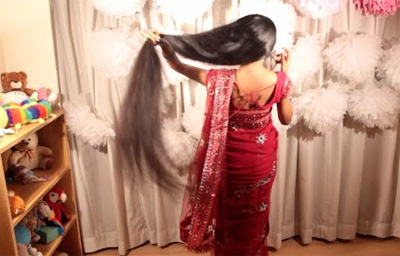 Hairstyle for a wedding saree