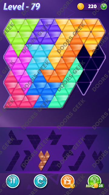 Block! Triangle Puzzle Challenger Level 79 Solution, Cheats, Walkthrough for Android, iPhone, iPad and iPod