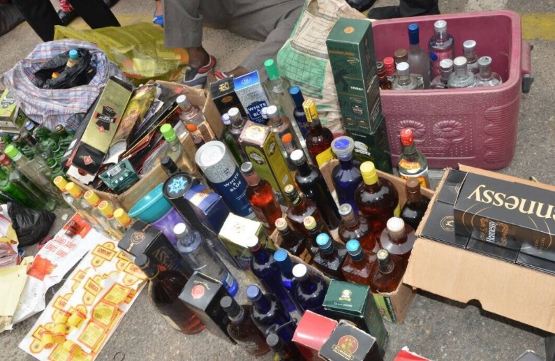 Lagos State Police Arrest Manufacturer Of Fake Wines And Adulterated Whiskeys (Photo)