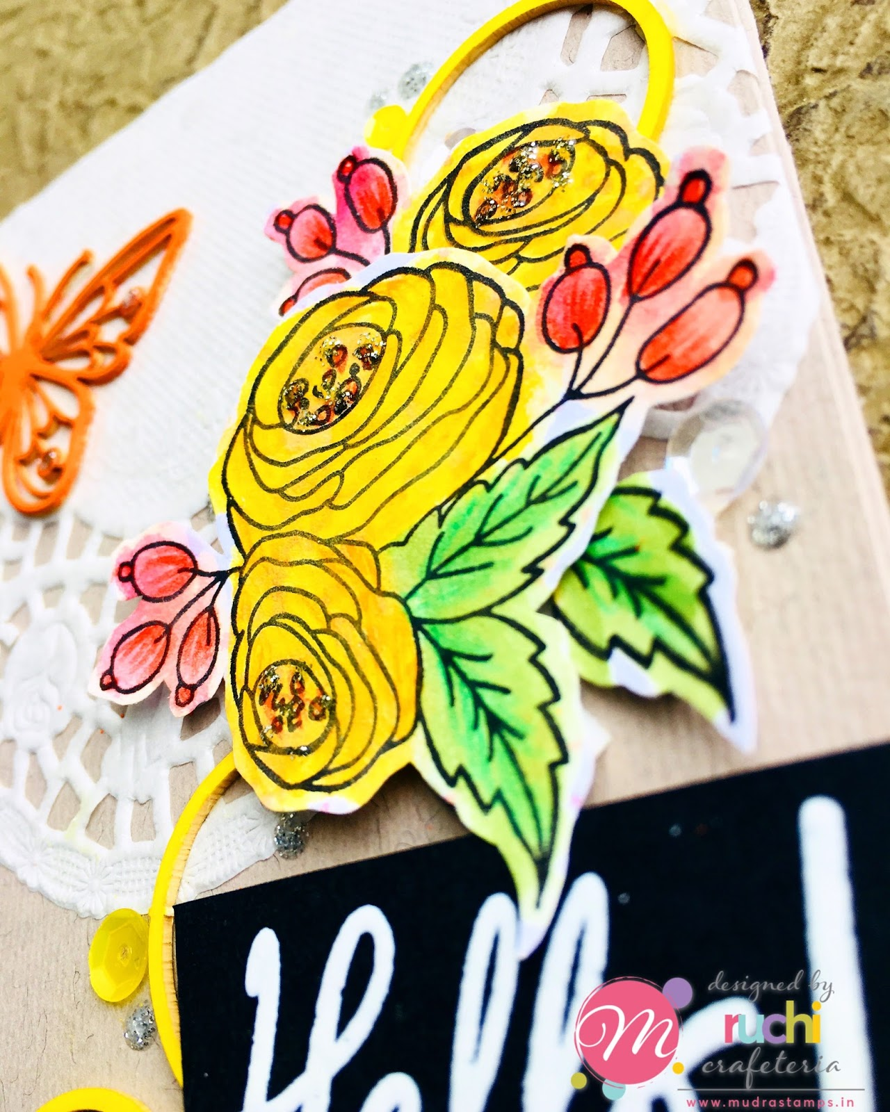 Mudra Craft Stamps: Floral Cards and Wall Decor!
