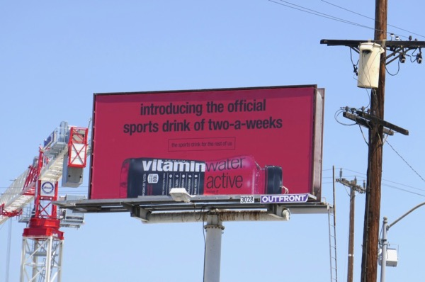 Vitaminwater Active two-a-weeks billboard