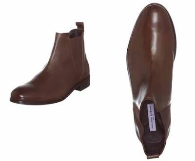 botines de piel color chocolate