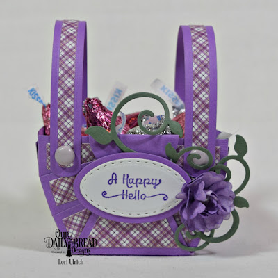 Our Daily Bread Designs Paper Collection: Plum Pizzazz,  Our Daily Bread Designs Stamp Set: A Happy Hello, Our Daily Bread Designs Custom Dies:  Bountiful Basket, Pretty Posies, Fancy Foliage, Ovals, Stitched Ovals