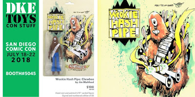 San Diego Comic-Con 2018 Exclusive Wookie Hash Pipe Chewbee Resin Figure by Jim Mahfood x DKE Toys