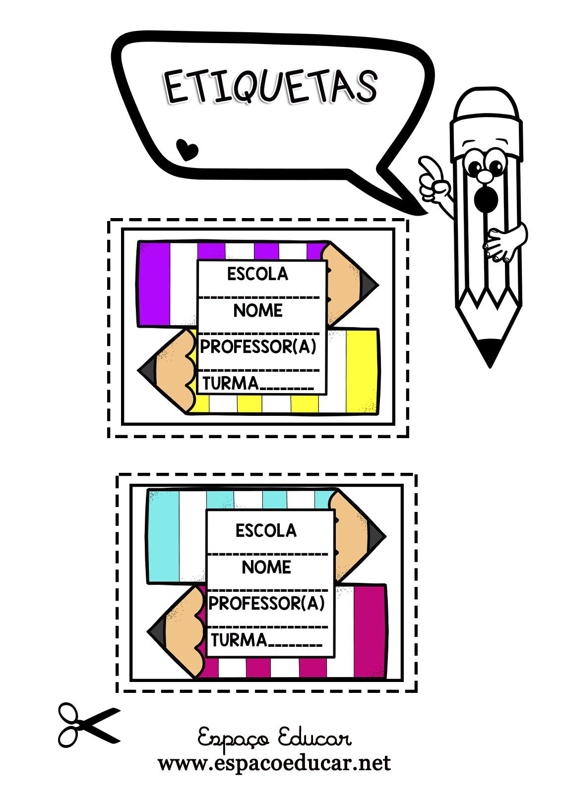 Etiquetas Para Imprimir E Organizar Materiais Lindas Lapis