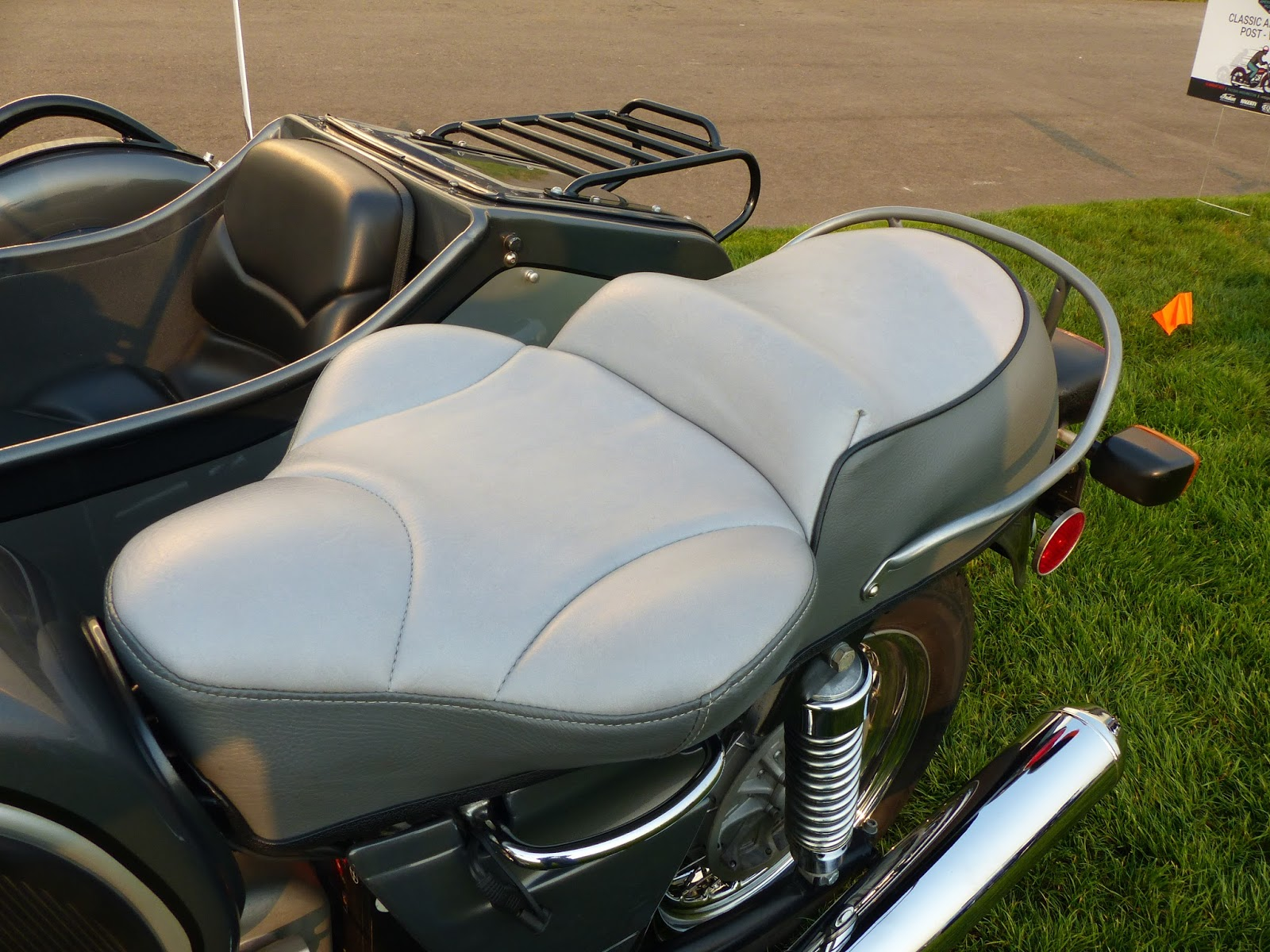 OldMotoDude: 1975 BMW R90 with Sidecar on display at