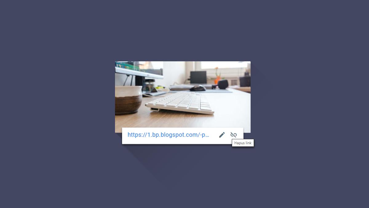Cara Menghapus URL Gambar dalam Postingan Blogger