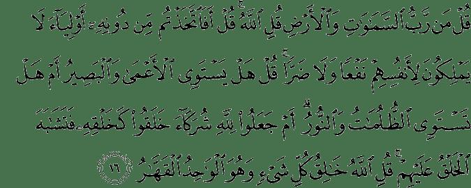 Surat Ar Ra'd Ayat 16