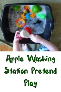 Apple Washing Station Pretend Play