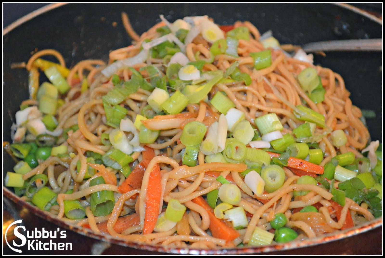 Vegetable Noodles | Subbus Kitchen